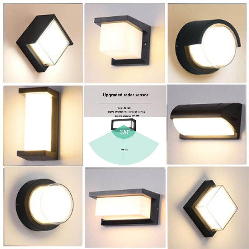 25W LED outdoor waterproof snow wall light door light modern LED wall light radar motion sensor
