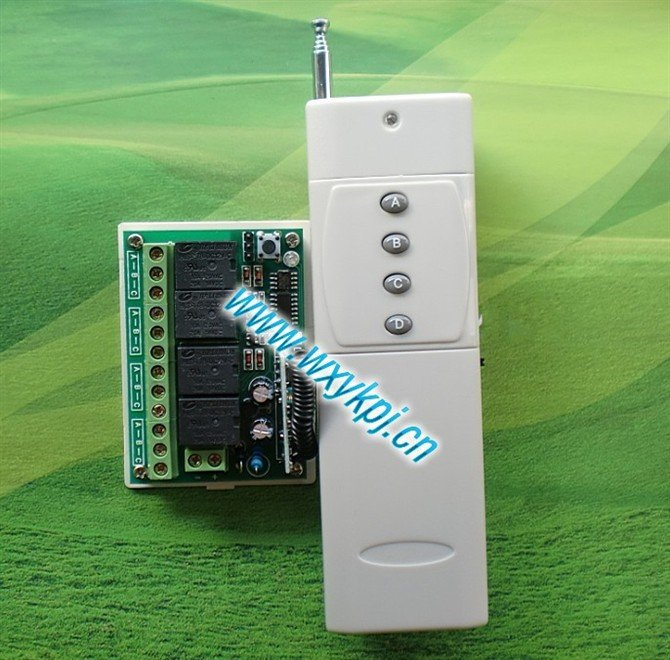 Free Shipping 800~ 3000M DC 12V10A 4CH Switch/Toggle Learning Code Smart home controller RF Wireless Remote Control System