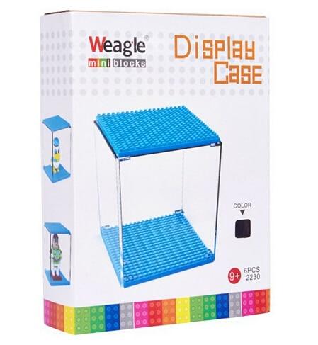 Factory Wise hawk Diamond Blocks Näyttölaatikko Hero Ironmanille Hellokitty Mini Blocks Näyttökotelo Show Box Lasten lelut