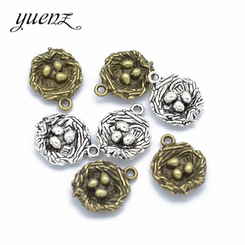 Create Charm//Pendant Tibetan Antique Silver 16mm  15 Charms Accessory Jewellery