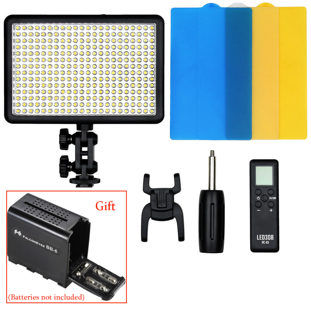 цена на Godox LED308W 308 5600K LED Video Light Lamp for Sony Panasonic Canon Nikon DV Camcorder DSLR Camera