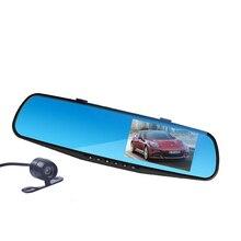 Двойная Камера Автомобильный Видеорегистратор Камера Заднего Вида Даш Cam G-сенсор HD 1080 P 4.3 »170 Градусов ночного видения Высокого Качества Бесплатно доставка