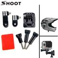 Gopro Helmet Mount Curved Base and 3 Way Pivot Arm Screw For Gopro Hero 5 4 3 Session Xiaomi yi 2 4K SJCAM SJ4000 Accessories