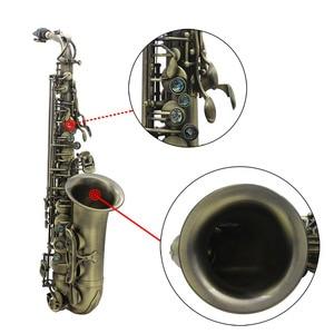 Image 4 - High Grade Antique Finish Bend Professional Eb E flat Alto Saxophone Sax Shell Key Carve Pattern  with Case Gloves Straps Brush