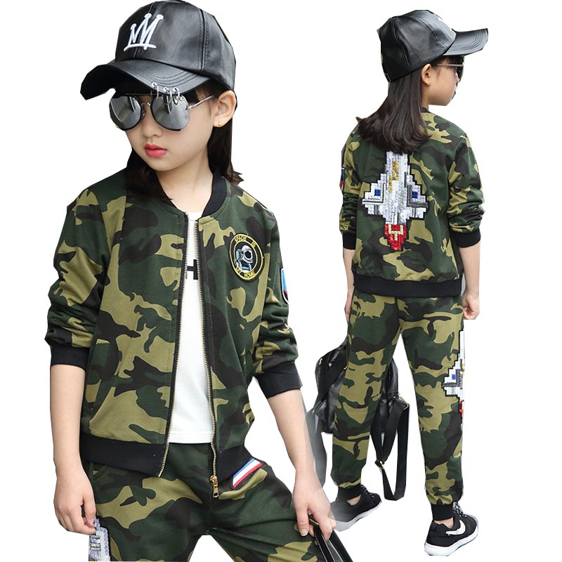 Children clothing sets autumn teenage for boys sport suit camouflage school kids clothes tracksuit for girls clothes 12 years kids tracksuit boys clothing 4 13t children s sports suits hooded children clothing suit for boys teenage girls clothing fashion