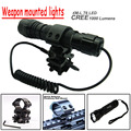New Outdoor T6 LED 1000LM Tactical Flashlight Torch For AR Rifle+Pressure Switch Free Shipping