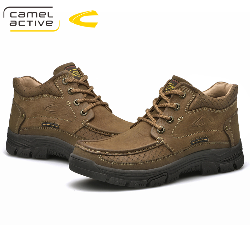 Image 4 - Camel Active New Outdoor Winter Snow Boots High Quality Mens  Riding Boots Luxury Genuine Cow Leather Fashion Ankle BootsSnow Boots