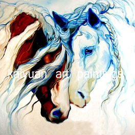 One Piece Wall Art Painting By Numbers Colorful Horse Art Modern Wall - Decoración del hogar