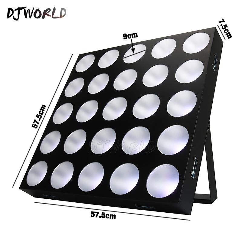 Djworld LED 25x30W RGBW Blinder Matrix DMX512 Stage Effect Lighting Good For DJ Disco Party Bar Wedding Decorations Best Seller