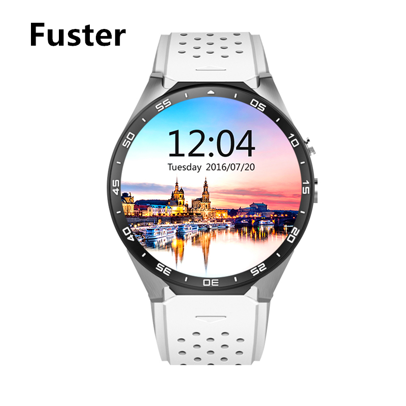 Fuster KW88 Android 5.1 Heart Rate Monitor Smart Watch Support 3G WCDMA Wifi Browser Maps GPS Location White Red Watch children winter coats jacket baby boys warm outerwear thickening outdoors kids snow proof coat parkas cotton padded clothes