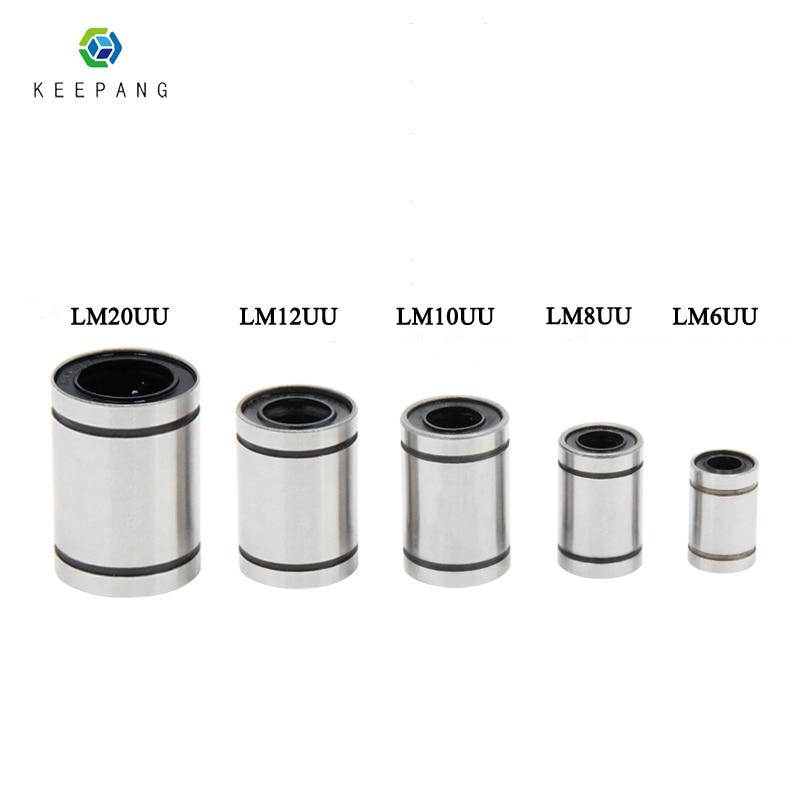 Kee Pang 2pcs/lot Linear Ball Bearing LM8UU 8mm 8x15x24mm 3D Printer Parts & Accessories Piezas Impresora 3d Free Shipping