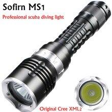Фонарик MS1 для подводного плавания, мощный светодиодный фонарик 18650 для погружения в воду, водонепроницаемый светодиодный фонарик с XM L2