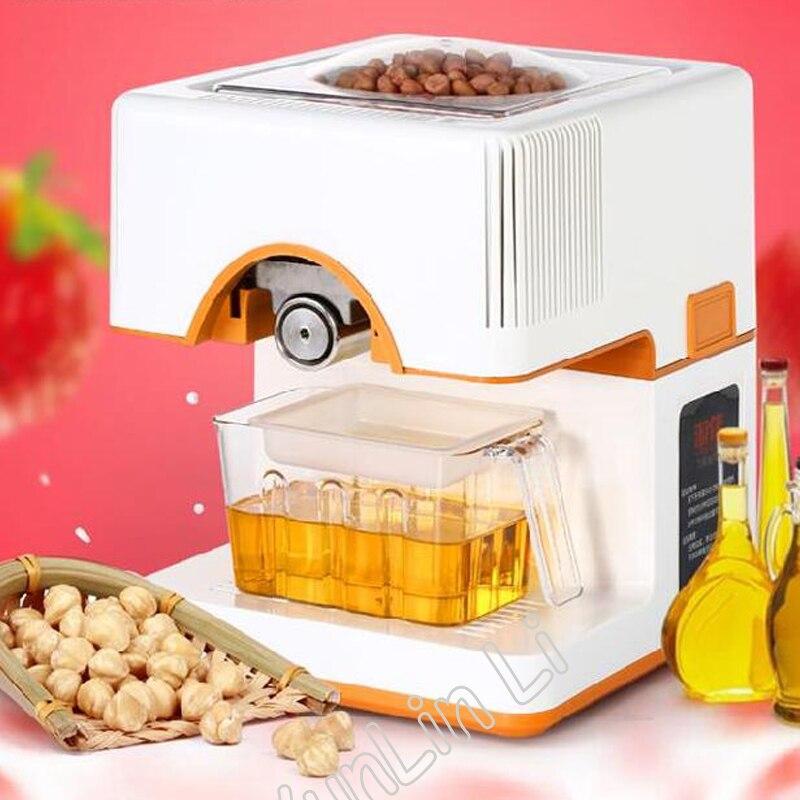Presse à huile de graine complètement automatique Machine 220 V usage domestique huile d'arachide presseur presseur Machine pressée à froid pressée à chaud RG-006