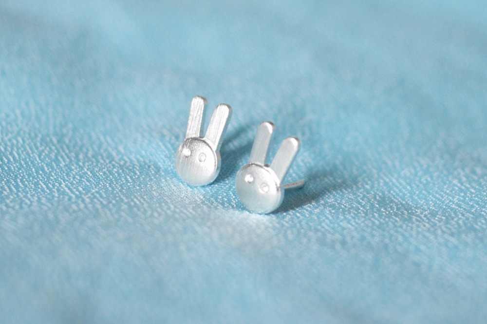 CHENGXUN 1 paire mode animaux boucles d'oreilles femmes mignon lapin conception petit lapin poste boucles d'oreilles mode bijoux 2018