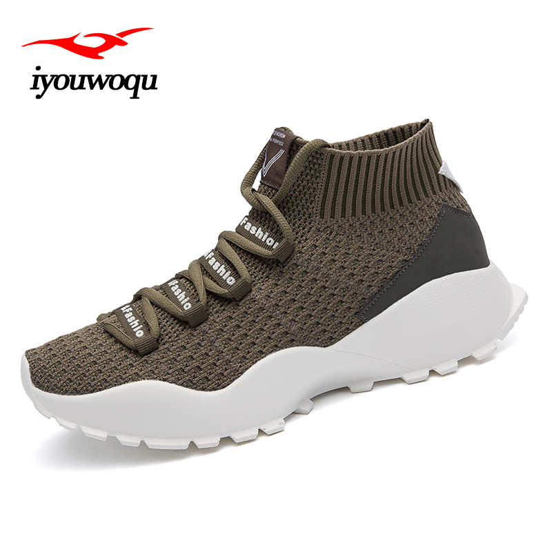 2018 running shoes breathable air mesh high heel shoes sneakers krossovky sports shoes homme colorful tide shoes