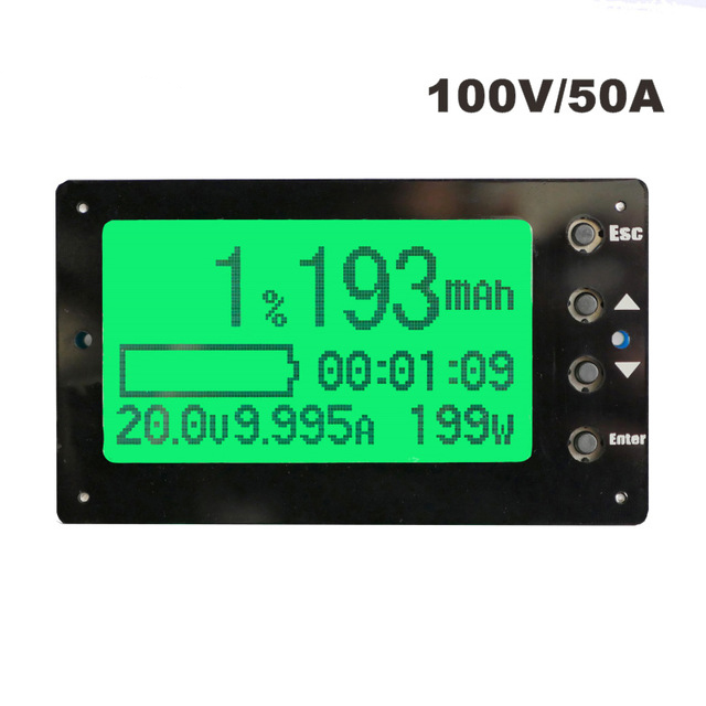 TF03 100V 50A Capacity Tester Indicator Coulometer Lithium/Lead-Acid Battery Meter 100%new 50v 50a precise real capacity tester meter for lifepo4 lithium lipo liion battery