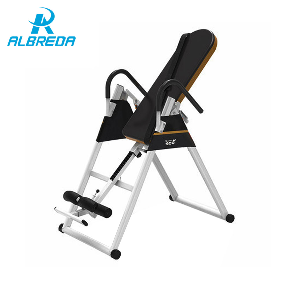 ALBREDA Handstand machine fitness equipment for home Inversion device training Equipment workout exercise bodybuilding trainer fitness padded gravity boots safety locking mechanism ankle hooks abdominal workout training hang up ab gym equipment