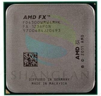 AMD FX серии FX4300 3,8 ГГц Quad-Core Процессор процессор FX 4300 FD4300WMW4MHK 95 Вт разъем AM3 +