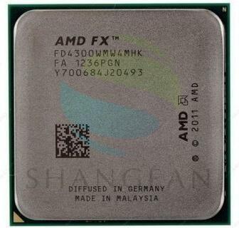Free shipping for AMD FX4300 3.8GHz Quad-Core CPU Processor FX 4300 FD4300WMW4MHK 95W Socket AM3+