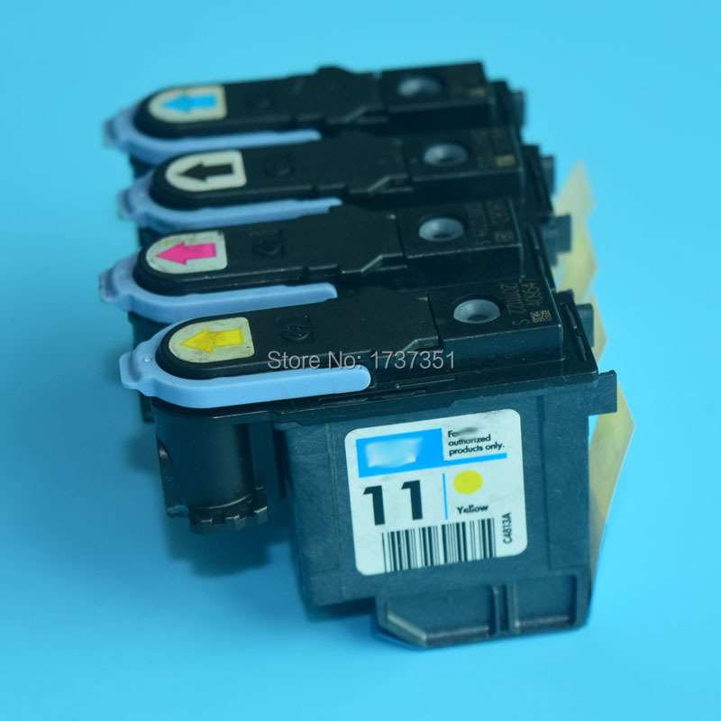 HP11 C4810A C4811A 4812A 4814A Print head For hp 11 printhead For HP designjet 100 110 111 500 510 800 plotter nozzle 1set 4pcs remanufactured 11 print head c4810a c4811a c4812a c4813a for hp11 printhead for hp designjet 500 510 800 printer