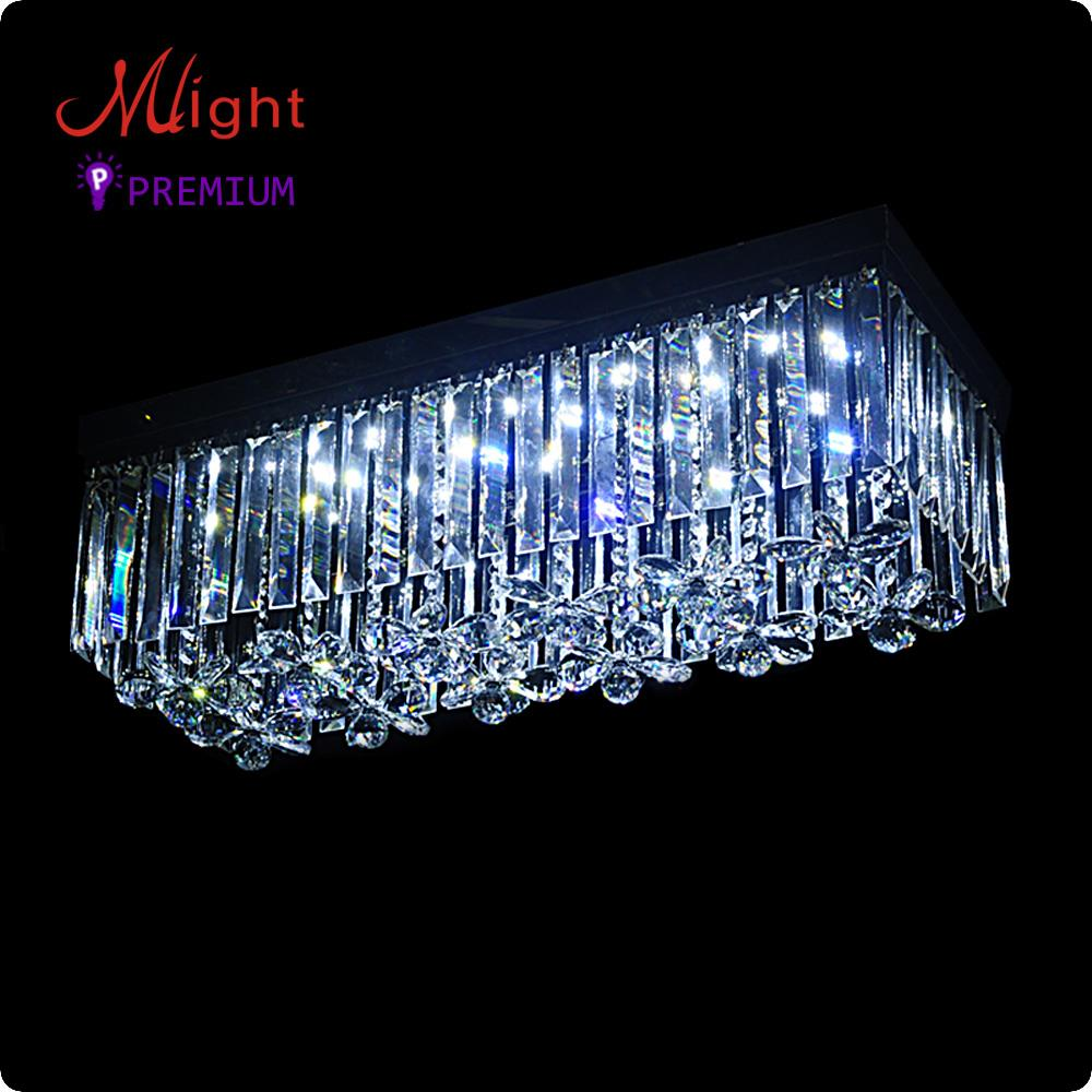 led k9 crystal ceiling light stylish square modern