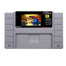 Scorching Sale Magnificence and the Beast Sport Card For 46 Pin 16 Bit NTSC Sport Participant