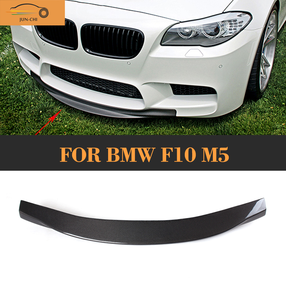 Carbon Fiber Front Bumper Diffuser Lip Spoiler For BMW F10 M5 Sedan 4 Door Original Bumpr Only 2012-2016 R Style carbon fiber car rear bumper extension lip spoiler diffuser for bmw x6 e71 e72 2008 2014 xdrive 35i 50i black frp