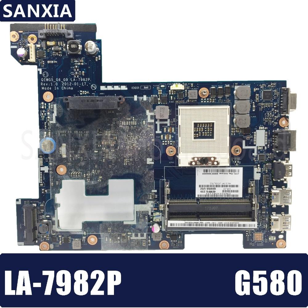 KEFU LA-7982P Laptop motherboard for Lenovo G580 Test original mainboard QIWG5_G6_G9 LA-7982P GM free shipping new la 7982p rev 1 0 laptop motherboard for lenovo g580 notebook pc qiwg55 g6 g9 fru 90001507