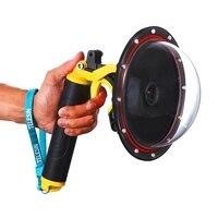 Sphere Water Lens Cap SJCAM SJ7 Star SJ6 Legend EKEN H9 SJ4000 Floating Trigger Ball Camera Lens Housing Waterproof Case/Monopod