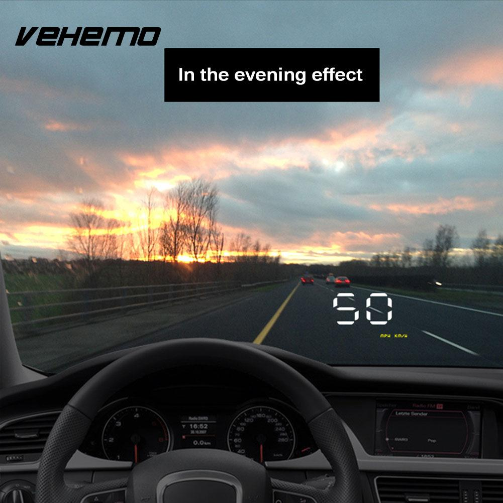 vehemo 12v led screen hud display hud head up display gps. Black Bedroom Furniture Sets. Home Design Ideas