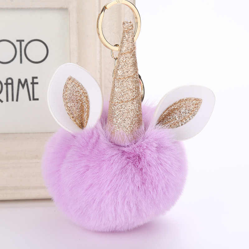 Fantasia & Fantasy Pom pom Pompons De Pele De Moda 10 cm Artificial Keychain Pom Pom Bola de Pele de Coelho Chaveiro Mulheres Saco carro Chaveiro