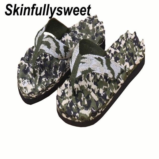 ead7ce68f95fe US $6.42 8% OFF 2018 Casual Slippers Men's Summer Massage Camouflage  Slippers Sandals Slippers Indoor And Outdoor Sandals Flip flops-in Flip  Flops ...
