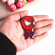 1 Uds superhéroes The Marvels anime Spiderman parches pegatina de tela para insignia para ropa apliques bordados accesorios DIY(China)