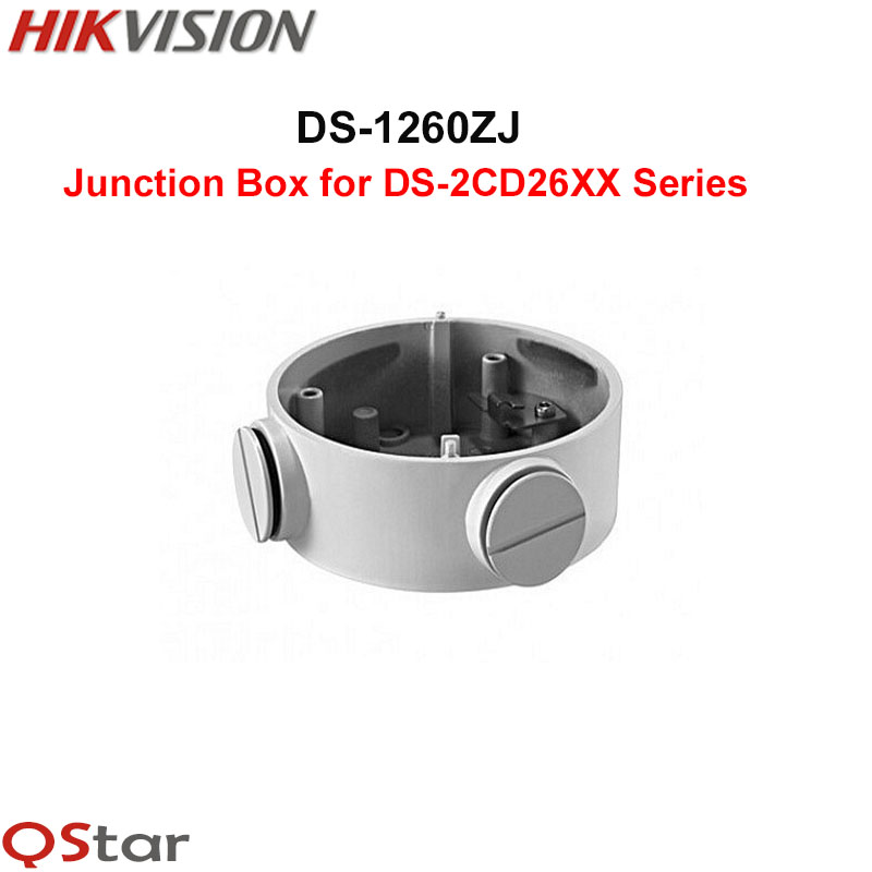 Hikvision White Aluminium alloy Junction Box DS-1260ZJ for DS-2CD2632F-IS DS-2CD2642FWD-I(Z)S DS-2CD2652F-I(Z)S IP CCTV Camera 4pcs lot customized and anodizing aluminium amplifiers cabinet electronic junction box 38 88 110mm