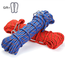 polyester Professional Rock 10M Climbing Rope Outdoor Hiking Accessories 10mm Diameter 3KN High Strength Cord Safety