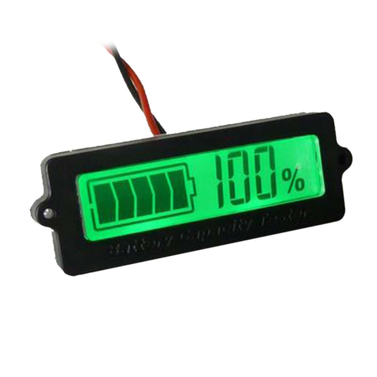 Interne 1.7 LCD Batterie Au Lithium/Plomb-acide Batterie Indicateur Affichage Panneau Vert Lumière Capacité Résiduelle Module D'affichage