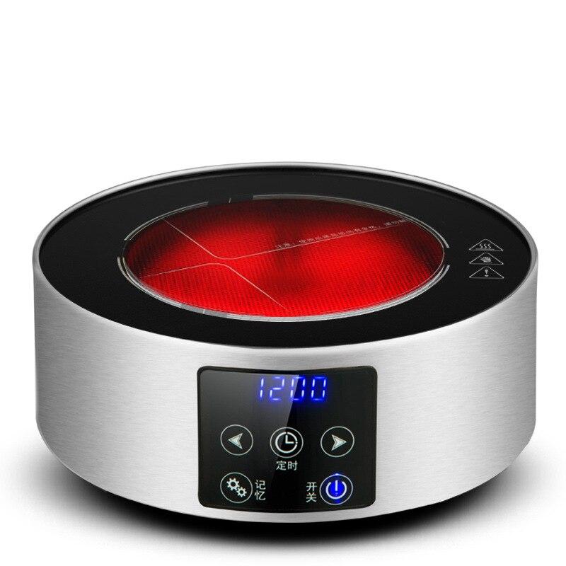 AC220 240V 50 60 hz mini cuisinière en céramique électrique ébullition thé chauffage café 1200 w puissance 6 fichiers peuvent chronométrer 3 heures - 6