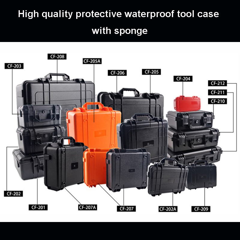 Waterproof Safety Case Protective Toolbox Equipment Suitcase Impact Resistant Instrument Plastic Tool Case With Pre-cut Foam