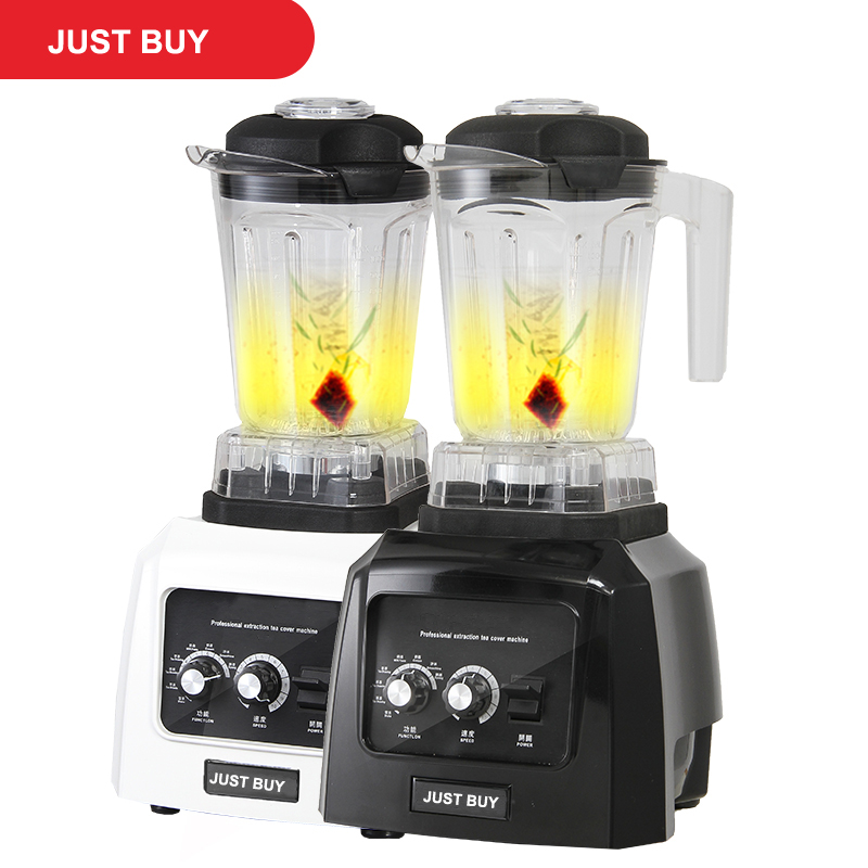 Commercial Milk Tea Ice Smoothie Grain Blender Food Processor With Timer цена