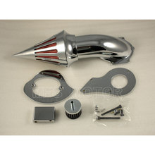 цена на Motorcycle Part Spike Air Cleaner Filter Kit For Honda Shadow VLX 600 1999& Up Chrome