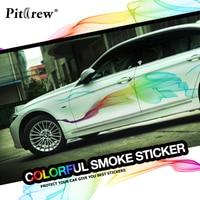 Auto Stickers Mooie Regenboog Lijnen Auto Styling Decals Decoratieve Voor Hele Lichaam Tuning Styling Waterdichte Exterieur Accessoires