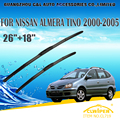 "Escovas Para NISSAN ALMERA TINO (2000-2005) 2001 2002 2003 2004 Car Windscreen Windshield Wiper Blade 26 ""+ 18"" Carros estilo"