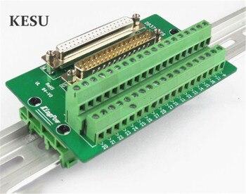 DB37 D Sub-Módulo de Interface com suporte de Montagem Em Trilho DIN, DB37 37Pin 37-Pin feminino masculino Placa de Breakout Box banhado a Ouro