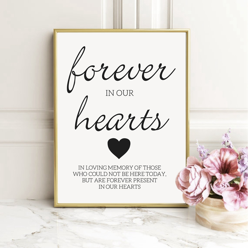 Wedding Memorial Ideas Prints Remembrance Sign Canvas Poster Painting Wedding Funeral Idea Memorial Quotes Wall Art Decor Painting Calligraphy Aliexpress