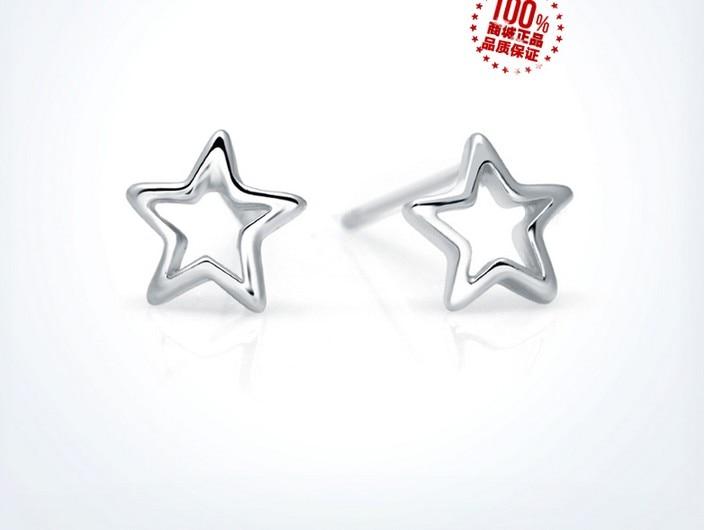 50 paires boucles d'oreilles étoile blanche/+ 50 paires boucles d'oreilles étoile hexagone or jaune