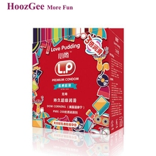 HoozGee Love Pudding Condoms Extra Safe Super lubrication Ultra thin Latex Condom for Men Sex Toy