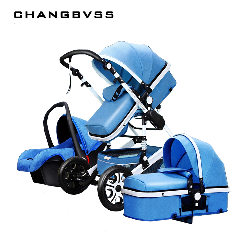 Luxury Multi function Trolley Baby Stroller 3 in 1 High Landscape Baby Carriage Seat and Sleeping Prams For Newborn poussette luxury baby stroller high landscape baby carriage for newborn infant sit and lie four wheels