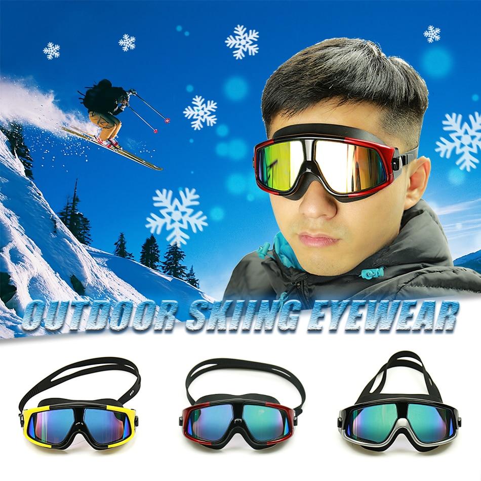 d28b439120edc Confortável Silicone Grande Quadro Óculos de Natação Óculos de Natação  Anti-Nevoeiro óculos de proteção UV Homens Mulheres Swim Máscara À Prova D   Água