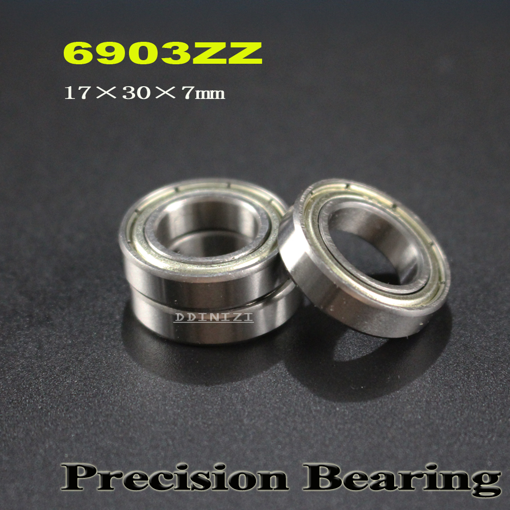 17x30x7 mm 2 PCS Metal Shielded Ball Bearing 17*30*7 Bearings 6903ZZ