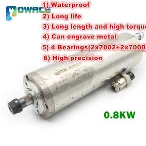 Image 1 - [EU STOCK] 0.8KW ER11 Waterproof Water Cooled Spindle Motor 220V 400HZ 65mm CNC Milling